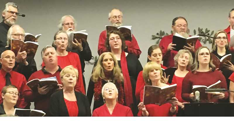 COURTESY PHOTO: COMMUNITY CANTATA CHOIR - Past performances of the Community Cantata Choir have been formed into a 20-minute video that will be shown at area churches this Christmas seaso