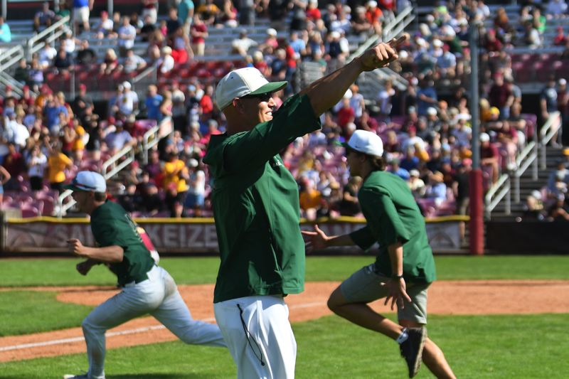 COURTESY PHOTO: BRIAN MURPHY - Jesuit head coach Colin Griffin and the Crusaders won their second state baseball title in four years in 2019.