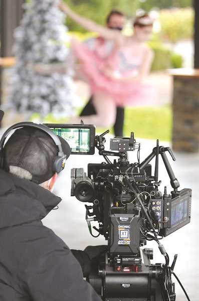 PMG PHOTO: GARY ALLEN - The production company that filmed the 'Nutcracker' last week employed three cameras and much advanced technology.