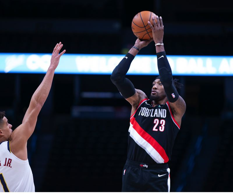 COURTESY PHOTO: BRUCE ELY/TRAIL BLAZERS - Robert Covington hit 6 of 9 shots against the Nuggets.