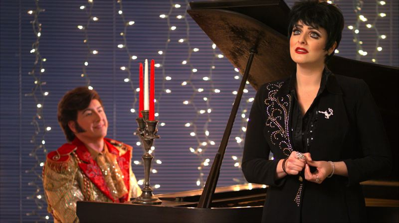 COURTESY PHOTO: MIKE MARCHLEWSKI - David Saffert returns as Liberace along with Jillian Snow Harris as Liza Minnelli in a post-Christmas livestreaming concert.