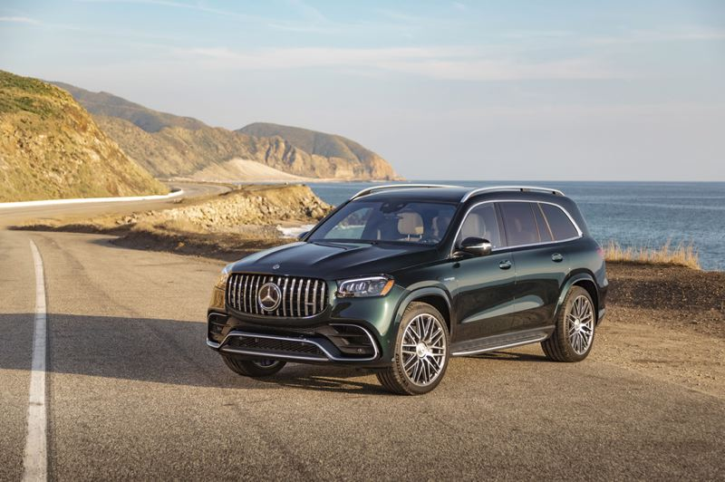 COURTESY MERCEDES-BENZ - The 2021 Mercedes-AMG GLS 63 is one of only a handful of high-performance luxury three-row SUVs on the market today.