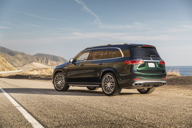 COURTESY MERCEDES-BENZ - With more than 600 horsepower and all-wheel-drive, the 2021 Mercedes-AMG GLS 63 will get you where you want to go fast and safely.