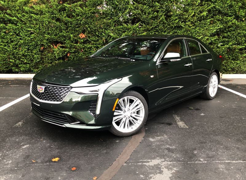 PMG PHOTO: JEFF ZURSCHMEIDE - The 2021 Cadillac CT4 is a world-class luxury sport sedan that competes with the best.