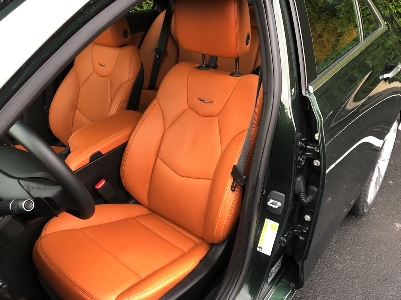 PMG PHOTO: JEFF ZURSCHMEIDE - The front bucket seats in the 2021 CT4 are among the most comfortable Cadillac has ever offered.