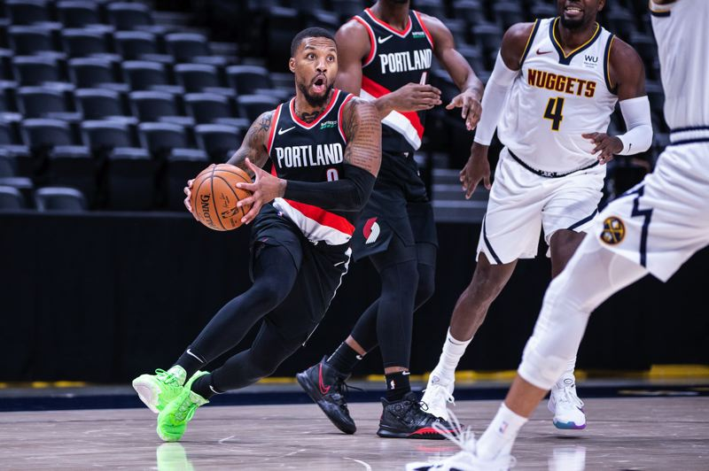 COURTESY PHOTO: BRUCE ELY/TRAIL BLAZERS - Damian Lillard and the Blazers like the depth and versatility of the team's roster, but defense must improve in busy 2020-21 schedule.