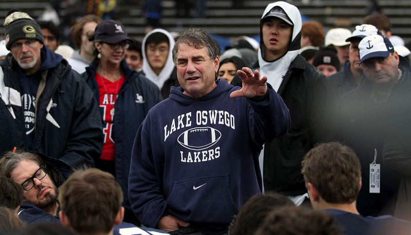 PMG PHOTO: MILES VANCE - Lake Oswego coach Steve Coury has concerns about player safety heading into the 2021 season.