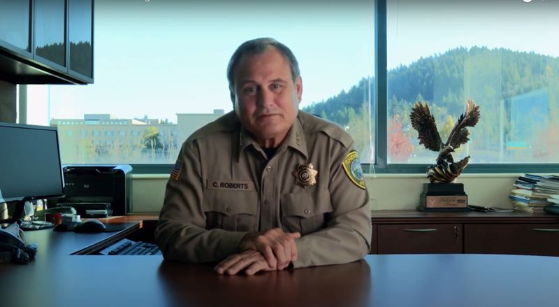 SCREENSHOT - YOUTUBE - Sheriff Craig Roberts, who retires from his post Jan. 1, 2021, announces the cancellation of the 2021 Child Abuse and Family Violence Summit scheduled to take place in April.