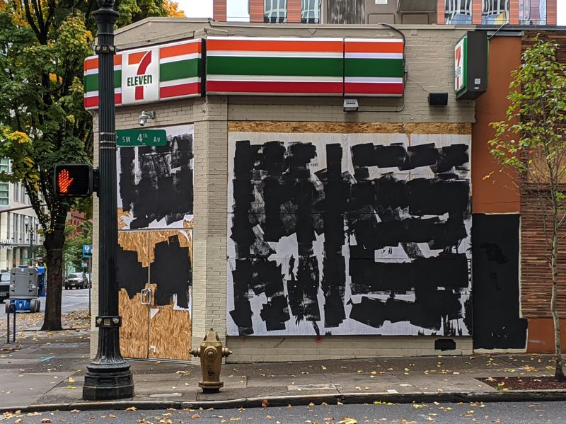 PMG: JOSEPH GALLIVAN - Antifa's clubhouse, the downtown 7-Eleven, finally closed down this fall.