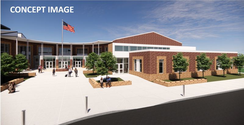 COURTESY PHOTO: WEST LINN-WILSONVILLE SCHOOL DISTRICT - A concept image of the new third option high school.