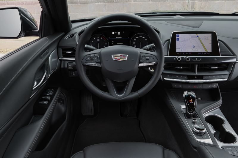 COURTESY CADILLAC - The driving environment in the Cadillac CT4 is thoroughly modern and luxurious, with all controls easy to find and use.