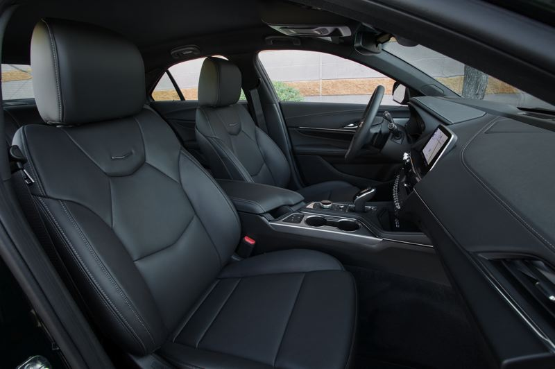 COUTESY CADILLAC - The supportive leather front bucket seats in the Cadillac CT4 are comfortable enough for long trips.