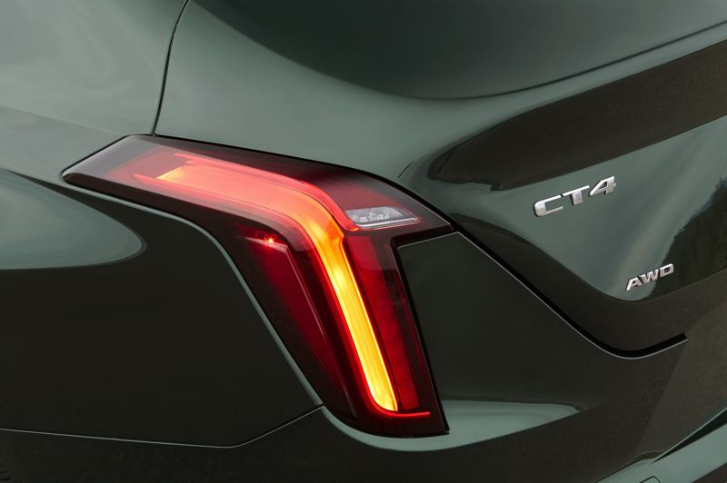 COURTESY CADILLAC - The upright tail lights are a Cadillac trademark made contemporary on the CTS.