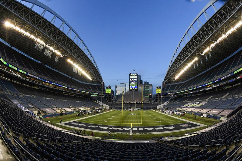 COURTESY PHOTO: MICHAEL WORKMAN - The Seahawks clinched the NFL West Division on their home field, the newly named Lumen Field.