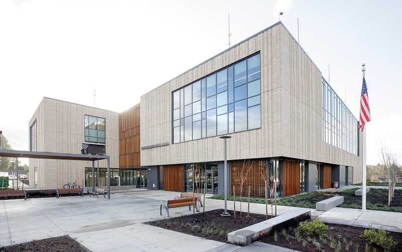 PMG PHOTO: JONATHAN HOUSE - The new Beaverton Public Safety Center open for business.
