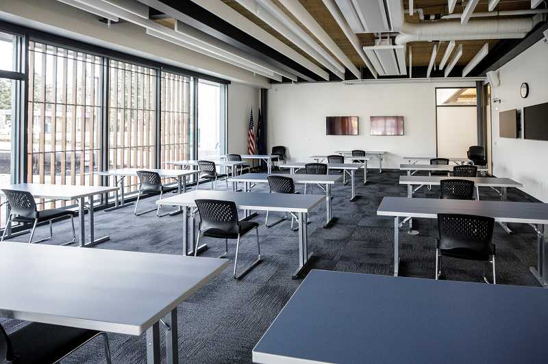 PMG PHOTO: JONATHAN HOUSE - One of the community rooms at the Beaverton Public Safety Center.