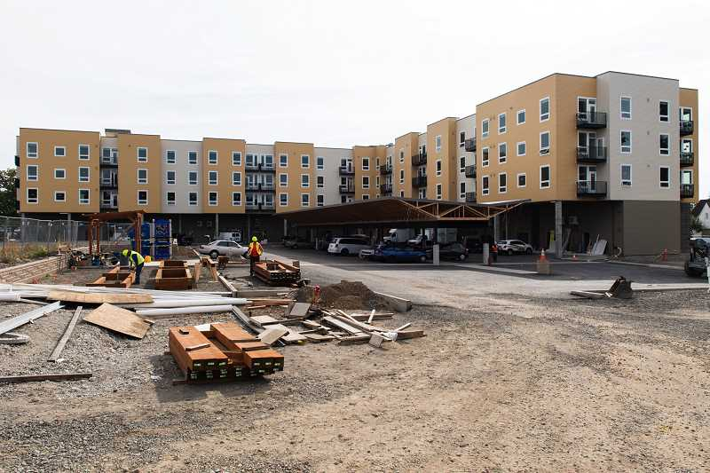 STAFF PHOTO: CHRISTOPHER OERTELL - The Jesse Quinn apartments on Pacific Avenue in downtown Forest Grove are an example of an affordable housing project in Forest Grove.