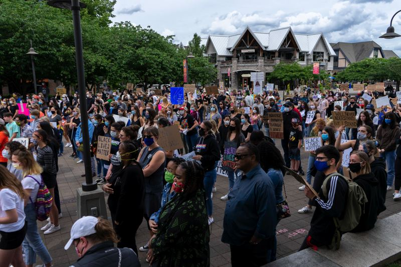 PMG FILE PHOTO - Black Lives Matter protests in Lake Oswego during the year 2020.