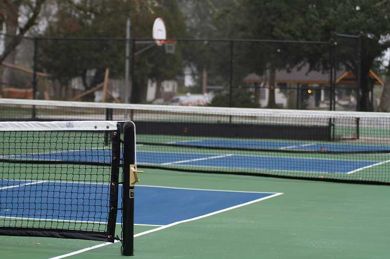 PMG PHOTO: WADE EVANSON - Tennis, Pickle Ball and basketball courts are a part of the newly renovated Rogers Park project. The Park opened to the public Monday, Dec. 28.