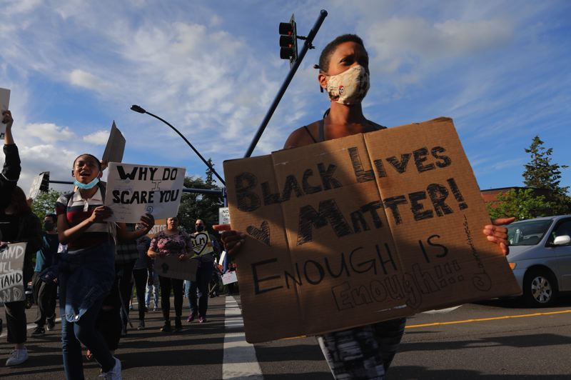 PMG FILE PHOTO - Hundreds marched across Wilsonville in June to protest police brutality.