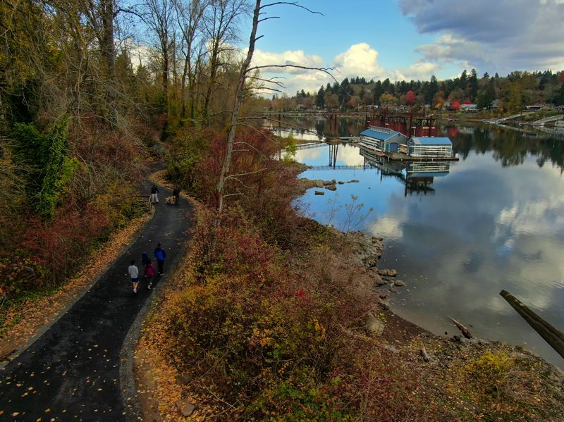 COURTESY PHOTO: DAVE ARPIN - Roehr City Park path is part of the Willamette River Greenway Trail.