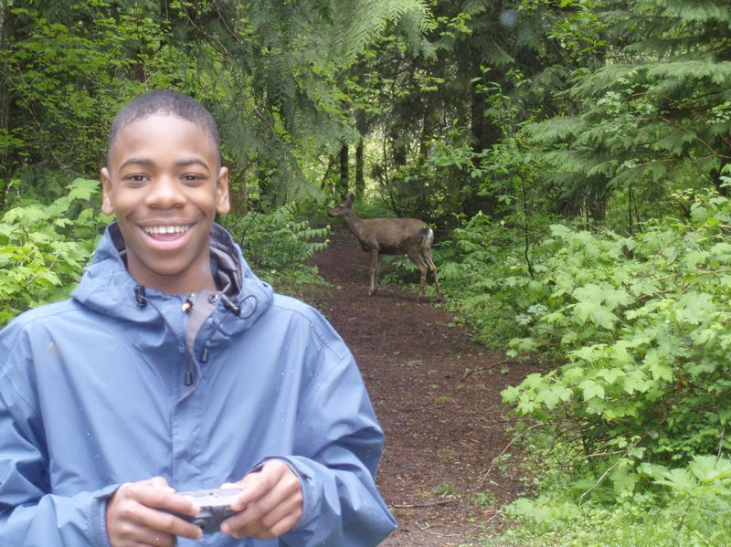 COURTESY PHOTO: MULTNOMAH COUNTY EDUCATION SERVICE DISTRICT  - Oh deer! Outdoor School provides all kinds of discoveries for Oregon students.