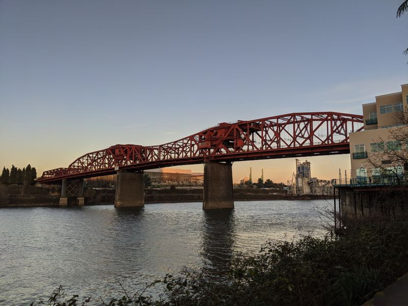 FILE - The Broadway Bridge from the Willamette River Greenway Trail.