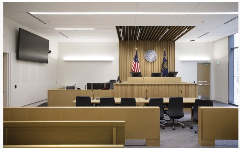 PMG PHOTO: JONATHAN HOUSE - A lawsuit in Multnomah County Circuit Court (courtroom pictured) accuses a disgraced former doctor who once practiced at Legacy Meridian Park Medical Center in Tualatin, David Farley, of abusing patients under his care.