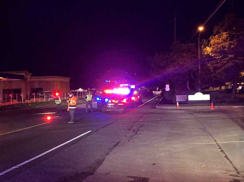 COURTESY PHOTO: MARION COUNTY SHERIFF'S OFFICE - Emergency crews respond to the scene near the Brooks truck stop where a pedestrian was hit on New Year's Eve.