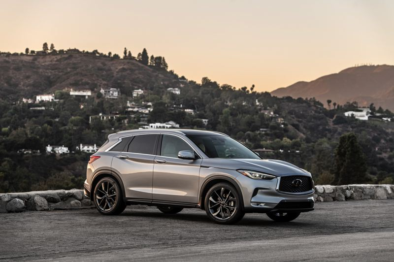 COURTESY INFINITI - The 2021 Infiniti QX50 is an attractive compact crossover with restrained styling and a quiet ride.