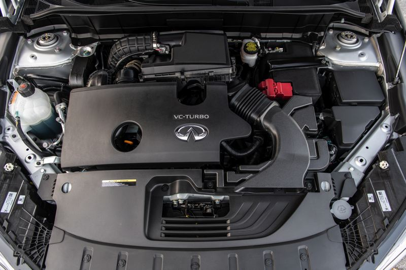 COURTESY INFINITI - The VC-Turbo engine in the 2021 Infiniti QX50 is the first production turbocharged variable compression ratio engine available.