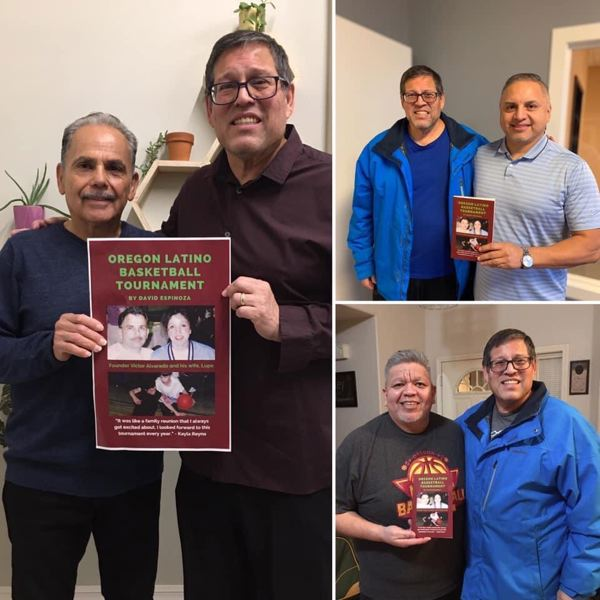 COURTESY PHOTOS: DAVID ESPINOZA - Author David Espinoza interviewed Oregon Latino Basketball Directors Victor Alvarado (left), Anthony Veliz (top right) and Rolando Ramirez (bottom right), along with a host of other sources for his book detailing the history of the event.