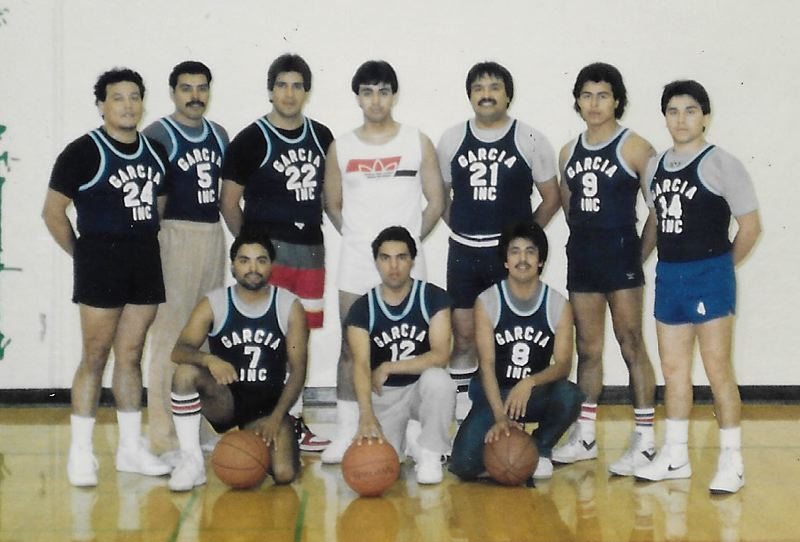COURTESY PHOTO: DAVID ESPINOZA - Espinoza gathered a number of interviews and pictures from past tournaments, including this photo of the championship team from the inaugural OLBT in 1986.