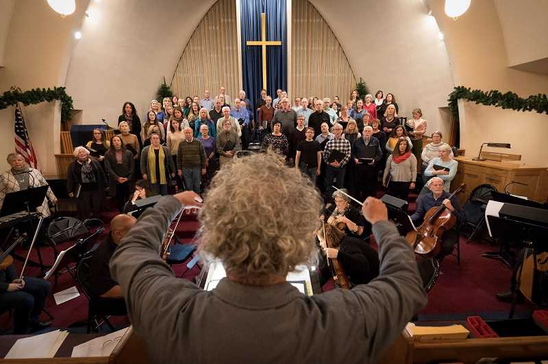 PMG FILE PHOTO - ISing Choir practicing in December of 2019. This year, things look a little difference for the choir as the coronavirus pandemic has forced members to practice at home.