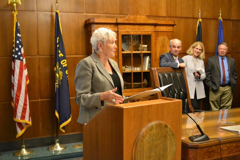 PMG FILE PHOTO - Bev Clarno leaves office Jan. 4 after 21 months as the interim Oregon secretary of state. She was appointed in March 2019 after the death of Republican Dennis Richardson from cancer.