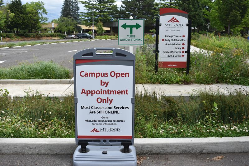 PMG PHOTO: TERESA CARSON - Not only were K-12 schools closed for much of 2020, but Mt. Hood Community College also closed its campus and taught most students remotely.