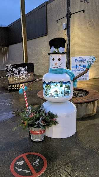 COURTESY PHOTO: HOT ROD DREAMWORKS - Fisher's Supply pulled in the most votes in the 2020 Snowman Contest with this 'Jackie Frost' snowman.