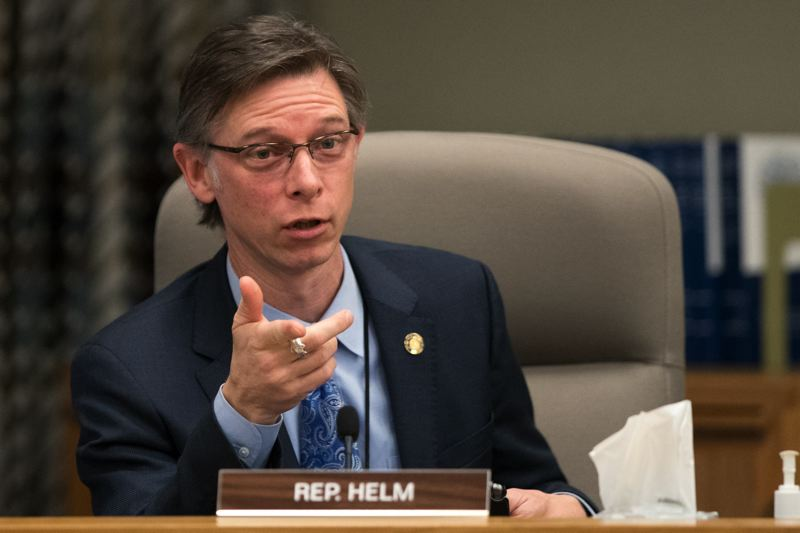 PMG FILE PHOTO - Rep. Ken Helm, D-Beaverton, speaks at a committee hearing in 2017.