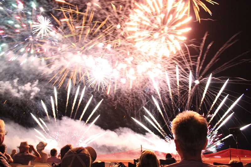 PMG PHOTO - The fireworks display at Oregon's Airshow of the Cascades, Jefferson County's signature event.
