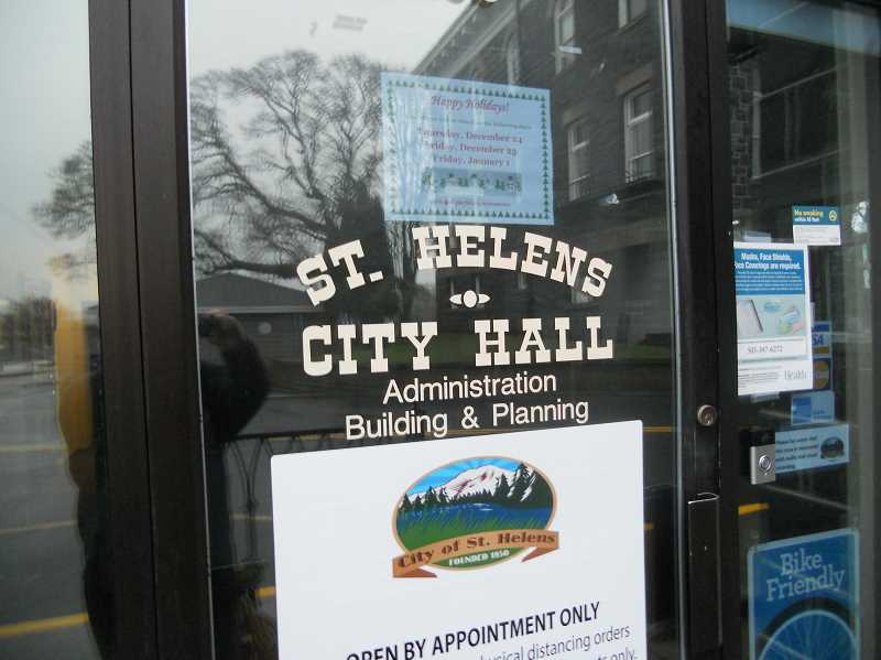 PMG PHOTO: SCOTT KEITH - While city council meeting are virtual lately, the physical St. Helens City Hall remains.
