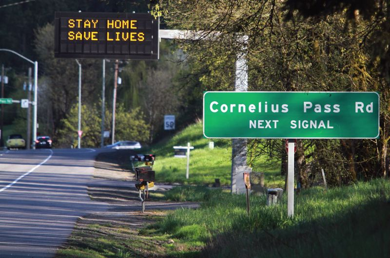 PMG PHOTO: MILES VANCE - Northwest Cornelius Pass Road will be transferred to the Oregon Department of Transportation, which will have jurisdiction from Highway 26 in Hillsboro to Highway 30 south of Scappoose.