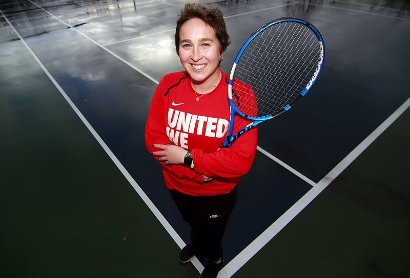 PMG PHOTO: MILES VANCE - Lake Oswego's Katie Day lost her senior tennis season at Gonzaga to cancer, but went on to beat primary mediastinal large B-cell lymphoma.