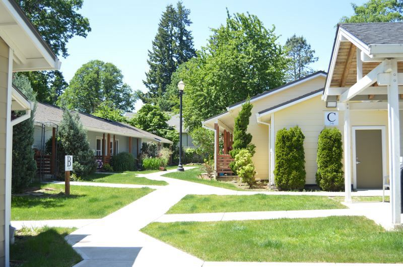PMG FILE PHOTO - The Scappoose City Council approved changes to the city development code in 2018, paving the way for projects like cottage housing developments laid out like the Victorian Court senior apartments in Scappoose.