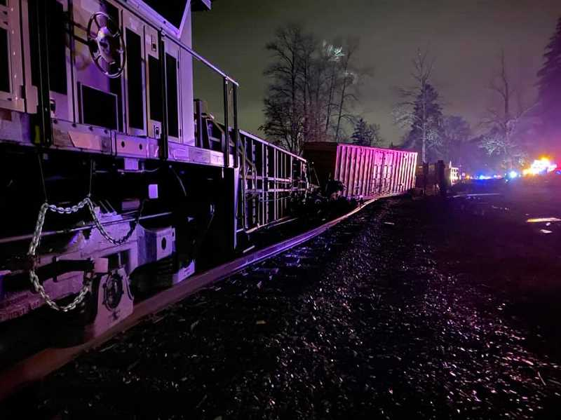 COURTESY PHOTO: CCSO - In total, 15 rail cars left the tracks in the incident Wednesday, Jan. 6.