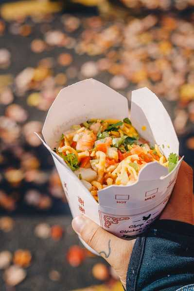 COURTESY PHOTO: CHOP CHOP CHICKEN SUNDAE & SALADS - Customers ordering from Chop Chop Chicken Sundae & Salads have their choice of what base they want for their meal (rice, quinoa and more) before adding a protein along with their choice of 11 toppings.