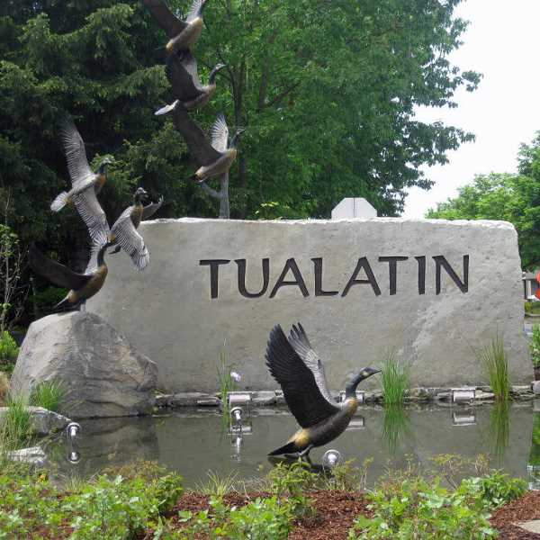 COURTESY CITY OF TUALATIN - On Thursday evening, Tualatin swore in Christen Sacco, Cyndy Hillier and Valerie Pratt as the newest members of the Tualatin City Council.