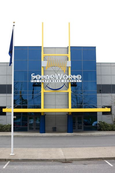 PMG FILE PHOTO: - SolarWorld's former 47-acre facotry in Hillsboro was purchased by Silicon Valley-based solar panel company SunPower in 2018.