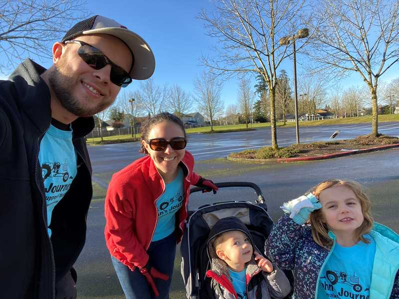COURTESY PHOTO: CHILDREN'S ORGAN TRANSPLANT ASSOCIATION - Rachael and Gavin Hill's family is participating in the fun run.