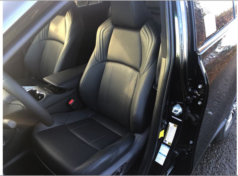 PMG PHOTO: JEFF ZURSCHMEIDE - The front bucket seats in the 2021 Toyota Venza are as upscale as most luxury crossovers.