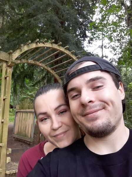COURTESY PHOTO: THERESA CHAPIN - Theresa Chapin (left) and Jacob Macduff pose together in a photo. Macduff was fatally shot by police in Tigard on Jan. 6.